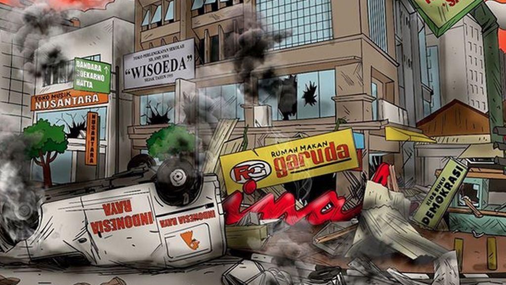 Jangan Sampai Terulang Lagi! Begini Ilustrasi Pasca Kerusuhan 22 Mei
