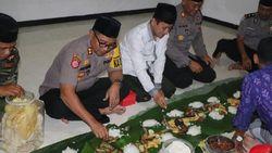 Polisi dan Santri di Kota Kediri Bersatu dalam Kembulan Nasi Liwet