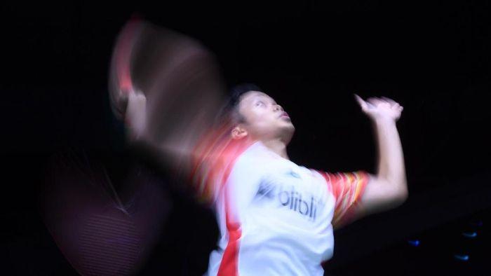 Anthony Sinisuka Ginting diwanti-wanti tak cedera menuju Indonesia Open 2019. (Wahyu Putro A / Antara)