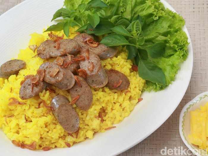 Resep philips :Nasi Kuning Sosis