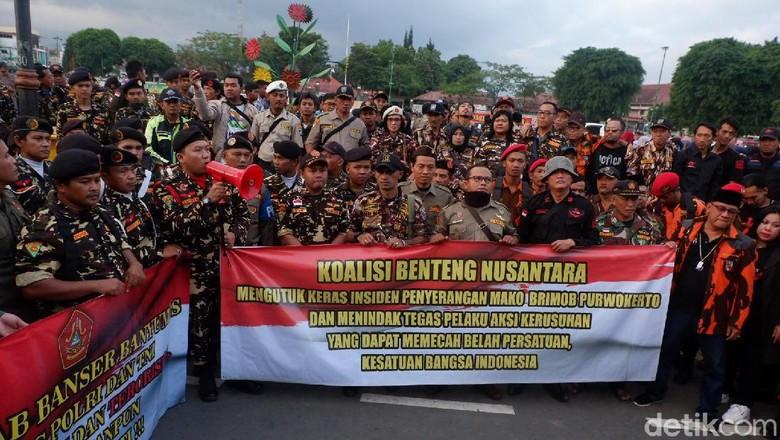 Ormas di Purwokerto Kutuk Penembakan di Mako Brimob Watumas