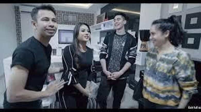 Raffi Ahmad, Nagita Slavina, Verrell Bramasta, Aurel Hermansyah Foto: RANS Entertainment