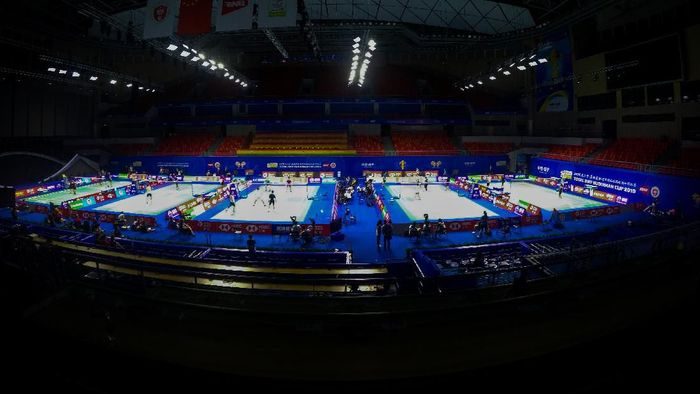 China lolos ke final Piala Sudirman 2019. (Foto: Wahyu Putro/Antara)