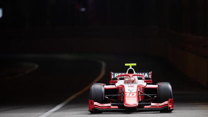 Sean Gelael gagal finis di feature race F2 Monako (Joe Portlock / LAT Images / FIA F2 Championship)