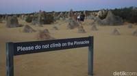 Kamu yang datang ke The Pinnacles dilarang untuk memanjat bebatuan yang ada di sana (Masaul/detikcom)