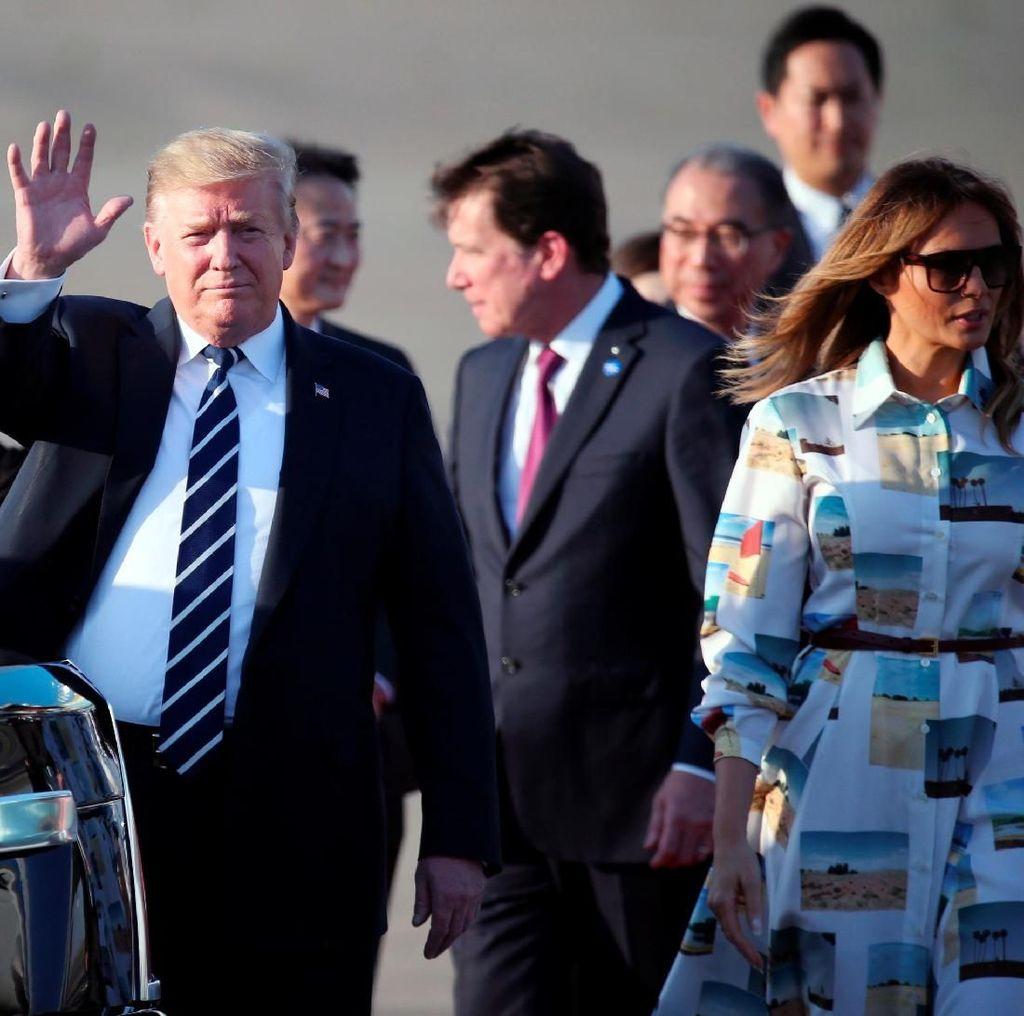 Saat Trump Nonton Sumo Bareng Shinzo Abe di Jepang