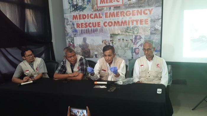 Konferensi pers MER-C (Foto: Faiq Hidayat/detikcom)
