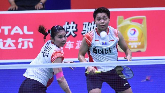 Greysia Polii/Apriyani Rahayu menambah wakil Indonesia di perempatfinal Australia Terbuka 2019. (dok. Foto: Wahyu Putro/Antara/)