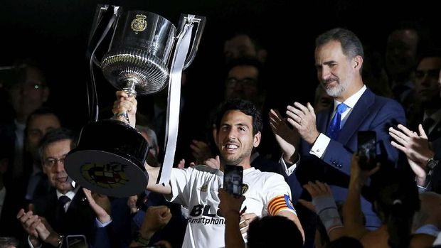 Valencia jadi juara Copa del Rey musim lalu.