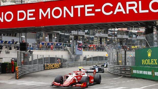 Sean Gelael pada balapan F2 Monako, Sabtu (25/5/2019)