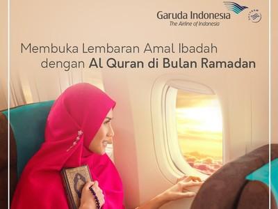 Terbang Naik Garuda di Akhir Ramadhan Bisa Sambil Ngaji Alquran