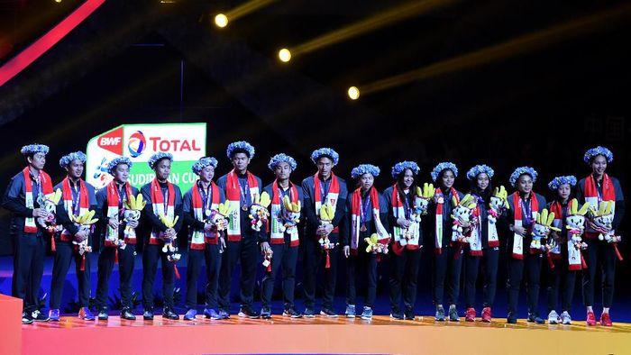 Indonesia meraih perunggu di Piala Sudirman 2019. (Wahyu Putro A/Antara Foto)