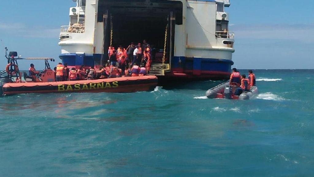 Kapal Penyeberangan Lombok-Bali Kandas, 194 Penumpang Selamat