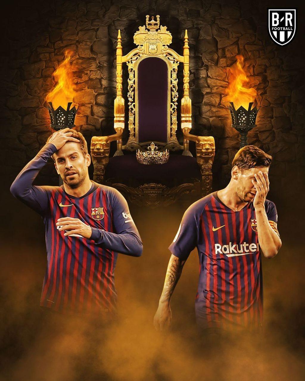Untuk pertama kalinya sejak 2014, Barcelona kalah di final Copa Del Rey. Foto: Instagram/brfootball