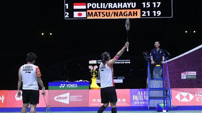Indonesia kandas di semifinal Piala Sudirman 2019. (Foto: Wahyu Putro A/ANTARA Foto)