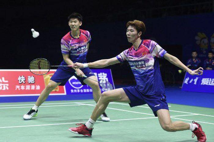 Dalam pertandingan final di Guangxi Sports Center Gymnasium, Minggu (26/5/2019) siang WIB, China membuka keunggulan lewat nomor ganda putra.