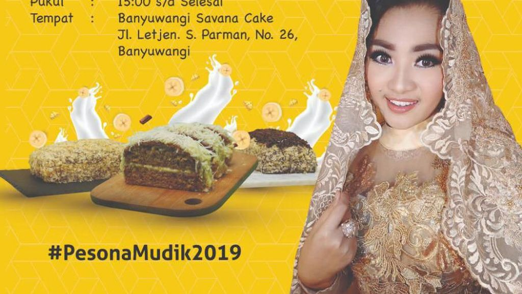 Pedangdut Fitri Carlina Siap Launching Bolu Banana
