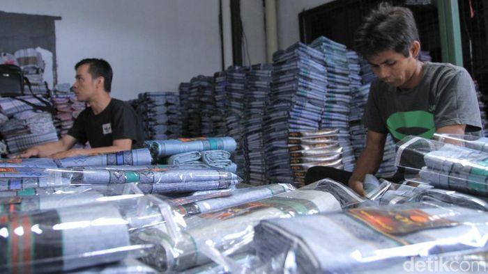 Foto: Sarung Majalaya (Wisma Putra/detikFinance)