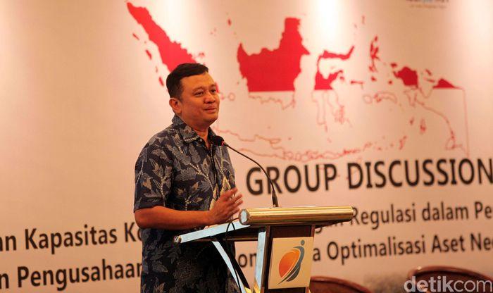 Forum Group Discussion ini bertema Peningkatan Kapasitas Korporasi dan Dukungan Regulasi dalam Perluasan Wilayah Pengelolaan dan Pengusahaan Sumber daya Air (SDA) Nasional serta Optimalisasi Aset Negara.
