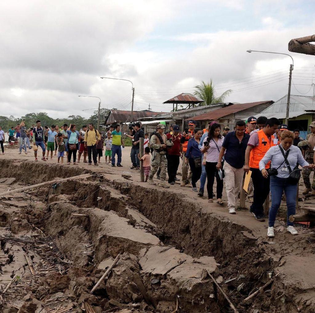 Pipa Kilang Minyak di Peru Alami Kebocoran Akibat Gempa M 8