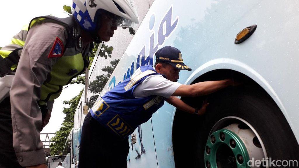 Dishub Sleman Cek Bus Angkutan Lebaran di Terminal Jombor