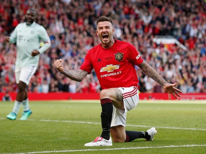 David Beckham di pertandingan semalam. Foto: Andrew Yates/Reuters