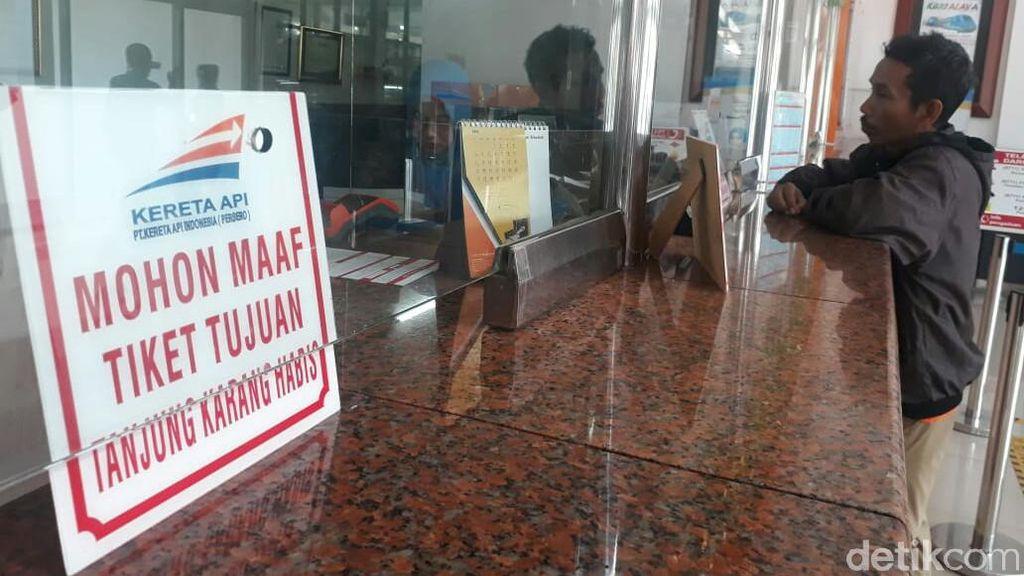 Tiket Mudik KA Palembang-Lampung Ludes