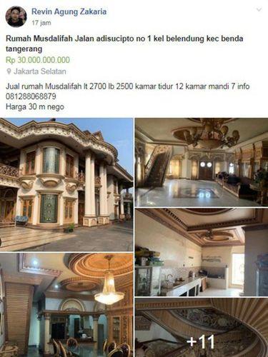 Rumah Mewah Muzdalifah Masuk Forum Jual Beli, Dijual Rp 30 Miliar