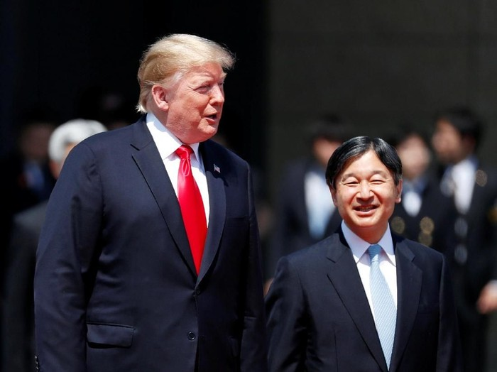 Donald Trump di Jepang. Foto: REUTERS/Issei Kato