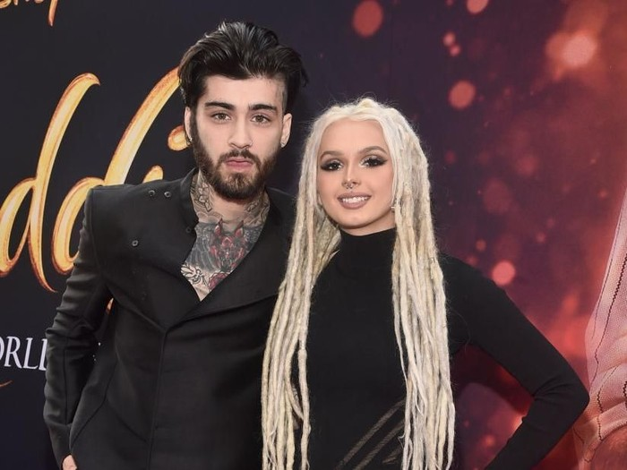 LOS ANGELES, CA - MAY 21:  ZAYN (L) and Zhavia Ward attend the World Premiere of Disney?s