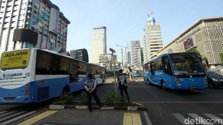 Jalan MH Thamrin Dibuka, 17 Rute TransJakarta Kembali Normal