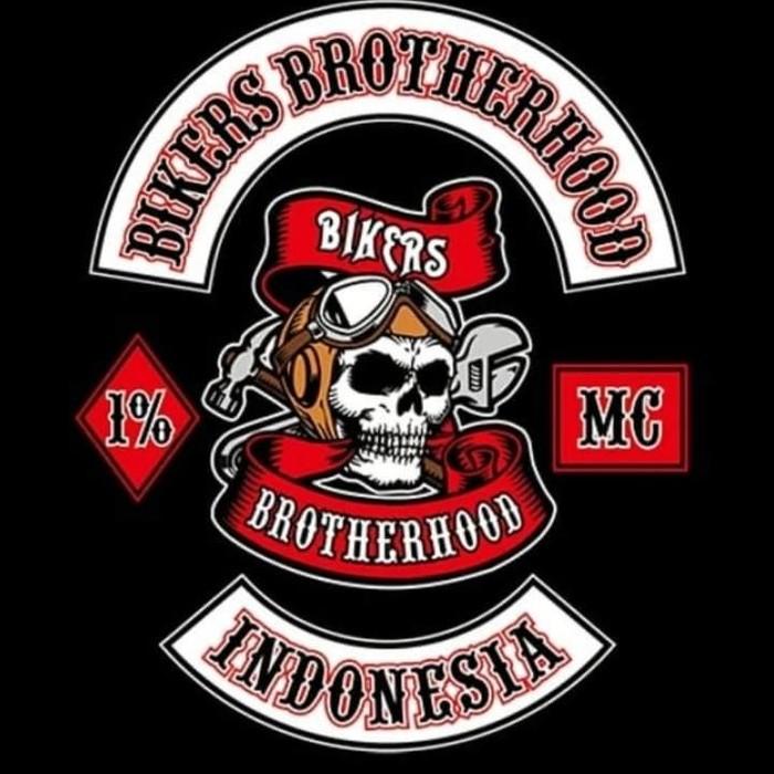 Logo Bikers Brotherhood yang kini dipermasalahakan di persidangan.