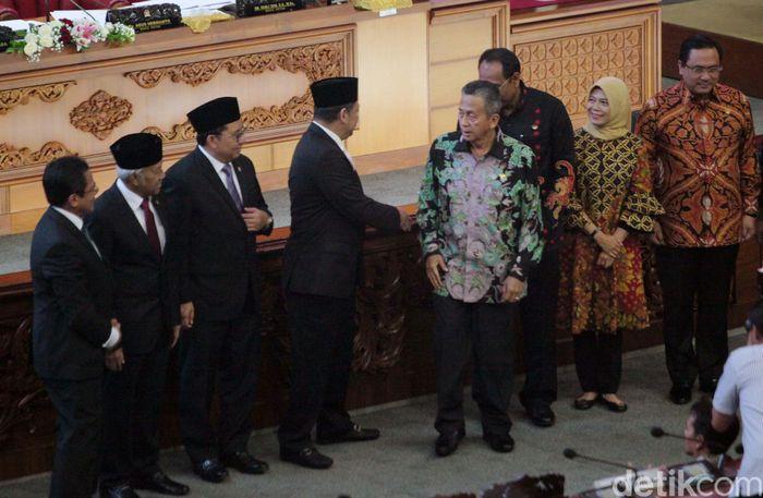 Badan Pemeriksa Keuangan (BPK) menyampaikan penilaiannya atas laporan keuangan pemerintah terkait penggunaan APBN 2018 di dalam Sidang Paripurna DPR RI yang digelar di kompleks parlemen, Senayan, Jakarta, Selasa (28/5/2019).