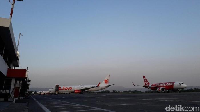 Suasana Bandara Adisutjipto Yogyakarta jelang Lebaran 2019. (Foto: Ristu Hanafi/detikcom)