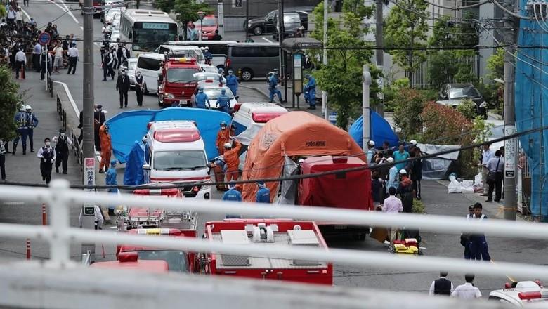 Polisi Jepang Geledah Rumah Pelaku Penikaman Massal