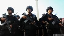 Brimob Nusantara yang Siaga di Jakarta Mulai Kembali Bertahap