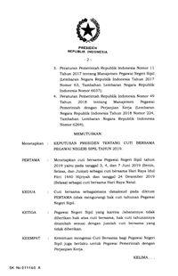 Jokowi Terbitkan Keppres Cuti Bersama Pns Untuk Lebaran 2019