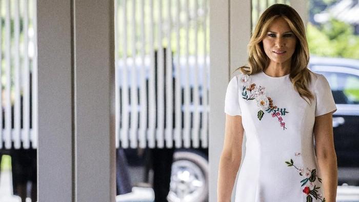 Melania Trump sampaikan kekhawatirannya soal kasus vape yang marak di AS. Foto: Getty Images