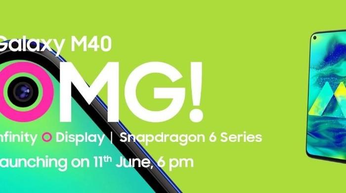 Poster promo Samsung Galaxy M40. Foto: Screenshot Microsite Samsung