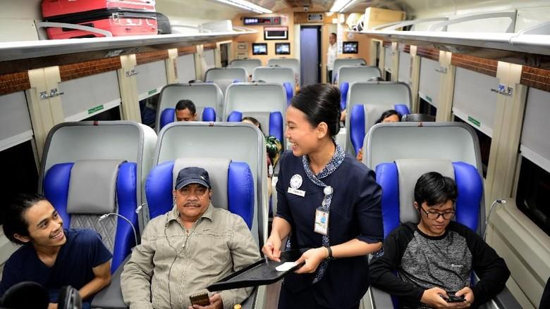Ilustrasi kelas penumpang kereta api (Antara Foto)