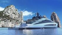 Ini Baru Kapal Yacht Super Mewah, Punya Air Terjun & Kolam Ombak