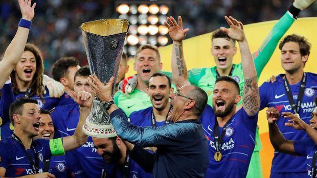 Liga Europa satu-satunya trofi yang dimiliki Maurizio Sarri.