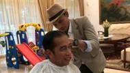 Gaya Jokowi Lebih Rapi Menyambut Lebaran, Rambut Dicukur Mas Jum