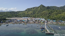 Foto Drone: Eksotis Nan Cantik, Pulau Rinca dari Ketinggian