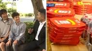 Temukan Dompet Isi Uang Jutaan Rupiah, 2 Murid Ini Ditraktir 125 Loyang Pizza
