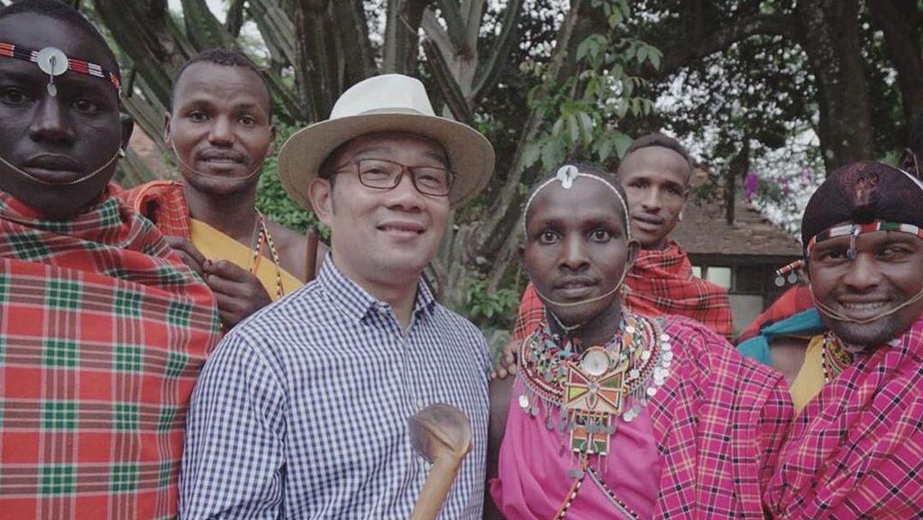 Ridwan Kamil Berbagi Keseruan di Wakanda Bareng Suku Maasai