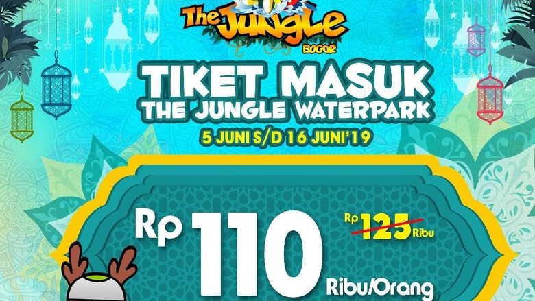 Promo The Jungle Waterpark selama Libur Lebaran (dok The Jungle Waterpark)