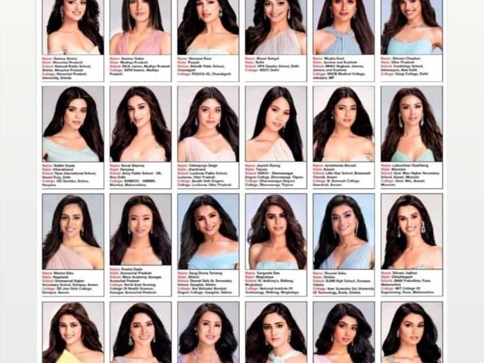 Finalis Miss India. Foto: Twitter