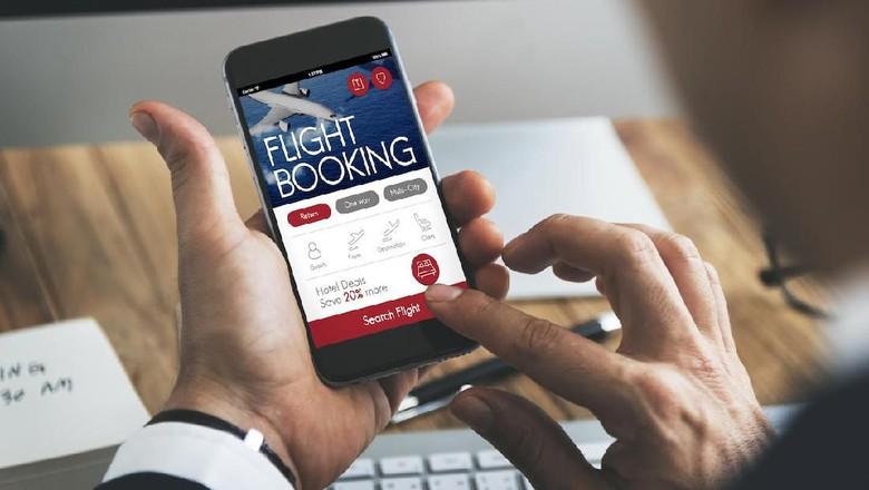 Ilustrasi Tiket Pesawat Online