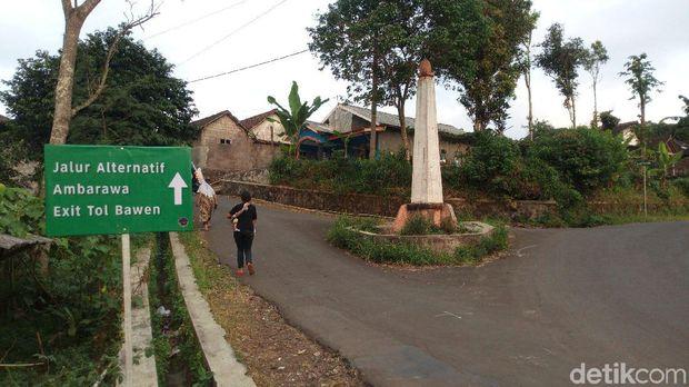 Jalur alternatif dari tempat wisata Bandungan ke Tol Bawen.